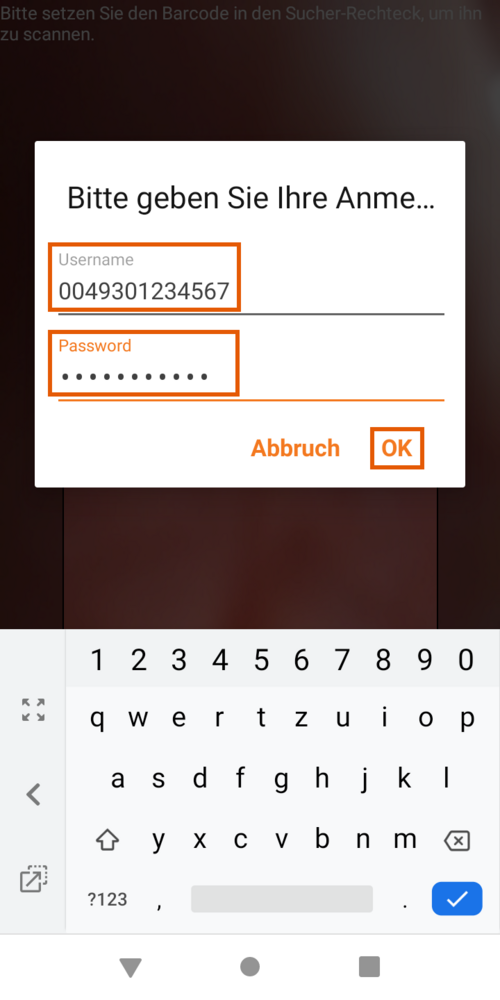 Zoiper App Android Q R Code Username Password